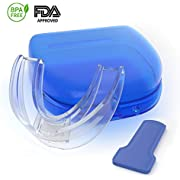 Snore Stopper Mouth Guards for Teeth Grinding, Sleep Aid Custom Fit Night Mouthpiece, Anti Snoring Solution with Case