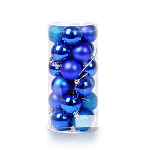 Ectkuee 4CM 24pcs lucido infrangibili palla ornamento di Natale, palline colorate di Natale, Bagattelle dell'albero di Natale perfetto per la casa