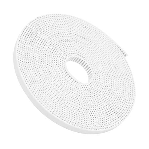 6mm Width 5 Meter Length, White GT2 Open Synchronous Belt, Synchronous Closed Loop, Industrial Accessories(5M)