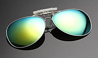 e83d39426c SummitLink CA Clip on Flip up Sunglasses Over Reading Glasses Green Color  Polarized Invisible Transparent Clip