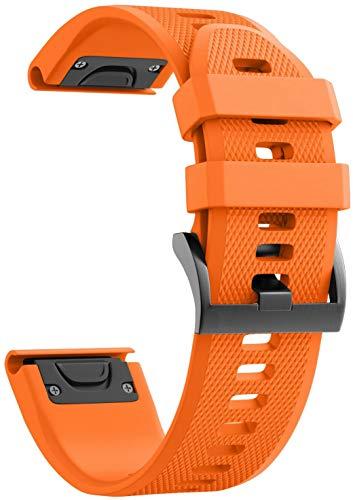 Gransho Correa de Reloj Compatible con Garmin Fenix 6X Pro/Fenix 6X Sapphire/Fenix 3 / Fenix 5X Plus/5X Sapphire, Silicona Banda de Reemplazo Pulsera (Pattern 4)