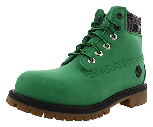 Timberland 6' Premium Waterproof Boot - Boston Celtics (Little Kid) Medium Green Nubuck 2 Little Kid M