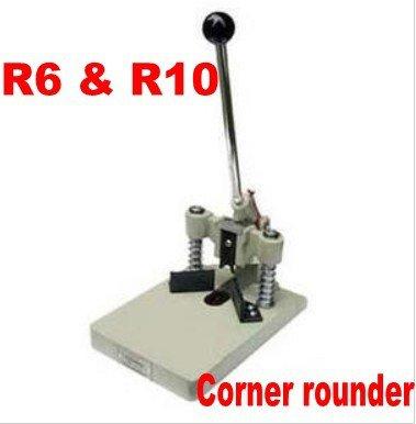Eck-Rundmaschine mit 2 Stanzformen R6 und R10, 30 mm, für Papier/Fotobücher, PVC R6 (1/4 Zoll) & R10 (3/8 Zoll)