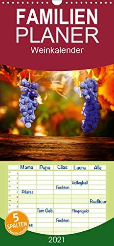 Weinkalender - Familienplaner hoch (Wandkalender 2021, 21 cm x 45 cm, hoch)