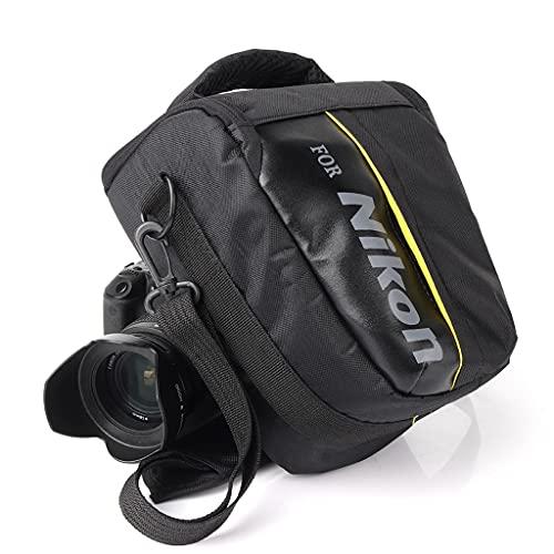 ZPDD Custodia per Fotocamera DSLR per Nikon P900 D90 D750 D5600 D5300 D5100 D7000 D7100 D7200 D3100 D80 D3200 D3300 D3400 D5200 D5500 D3100 (Color : Black, Size : 18cm x 14cm x 22cm)