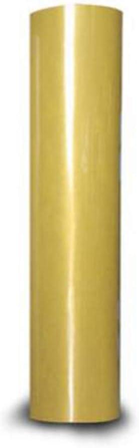 Ropa Gold JDV Rollo de pel/ícula de Vinilo de Transferencia de Calor Hierro Resistente en HTV para Camisetas de Bricolaje Sombrero Tela