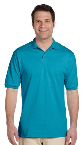 Jerzees Polo en tricot 50/50 avec SpotShield pour homme Bleu 5X-Large