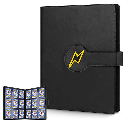 Blummy Card Holder Book Carrying Case for Pokemon Trading Cards, Holder Album Binder Compatible with 22 Premium 18-Pocket Pages, 396 Cards (Black) image