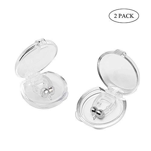 Prechkle Clip Nasal Magnético Anti-Ronquidos, Tapones para Fosas Nasales para Dejar de Roncar, Facilitar la Respiración y Dormir Cómodo, 2 Piezas