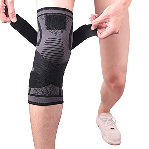 OFEFAN Compression Knee Sleeve - Best Knee Brace for Men & Women – Knee Support for Running, CrossFit, Basketball
