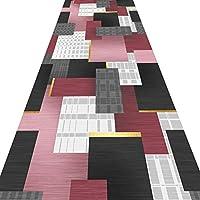 廊下のエリアの敷物のための長いランナー敷物、台所/洗濯用幾何学的マットのための台所/洗濯/寝室/農家、複数サイズ (Color : A, Size : 140x400cm)