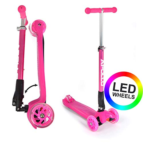 Apollo Fun-Scooter Kids Whiz LED Roller für Kinder ab 3 Jahren, Kinderroller, Kickboard, Tretroller