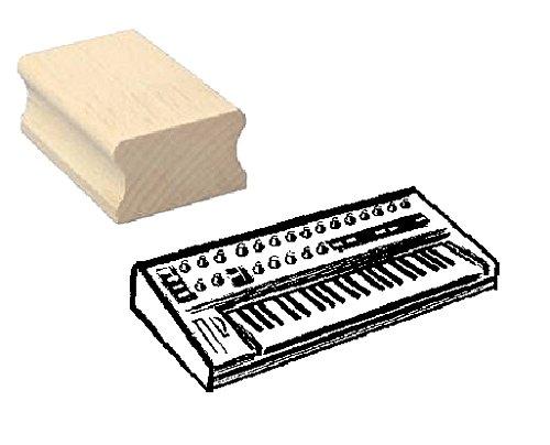 Stempel Holzstempel Motivstempel « KEYBOARD » Scrapbooking - Embossing Musik Komponist Musiker Klavier komponieren