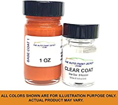 Perfect match to OEM factory color code on your car. Our touchup paint is always freshly mixed so you don't purchase old paint sitting on a shelf or in a warehouse. Includes paint and clear coat in two bottles. The paint bottles include agitator ball...