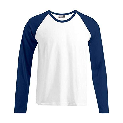 Promodoro - Baseball Shirt Heavy Jersey XL,White/Navy