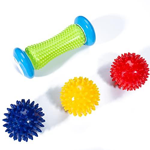 Massageball, Lavvio Igelball Fußmassage zur Linderung der Schmerzen im Fußgewölbe, Igelball Rücken, Bein und Körpermuskelmassage, Massageball mit Noppen Entspannt durch Triggerpunkttherapie
