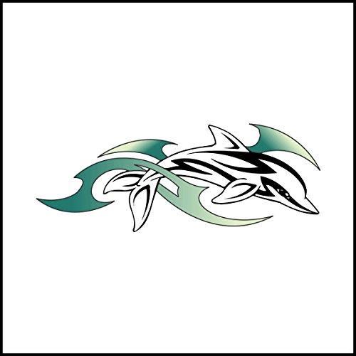 Fliesenaufkleber Fliesentattoos für Bad & Küche - Küchenfliesen für einzelne Fließen 10x10 cm - MF272 - Delphine
