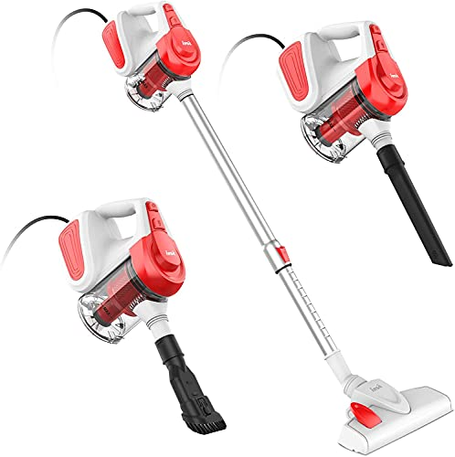 INSE Corded Vacuum Cleaner, 3 in 1 Lightweight Stick Vacuum Cleaner with...