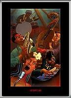 ポスター ジャスティン ブア Jazz Quintet 額装品 アルミ製ハイグレードフレーム(シルバー)