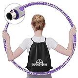 GRSTREE Hula-Hoop, Hula-Hoop Fitness Desmontable de Diseño de 8 Secciones, Material de Acero Inoxidable,Hula-Hoop con Peso,Adecuado para Fitness Adulto y Pérdida de Peso