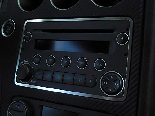 Cubierta De Acero para Alfa_Romeo 159 & BRERA & SPIDER (939) - 1 Pieza Placa Interior Decoración Inox Metal Cepillado Personalizados Hechos a Medida Tuning