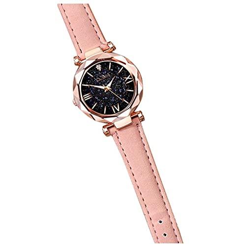 Women Watches Analog Quartz Round Dial Embossed Diamond Leather Strap Girl Wristwatch Teen Girls Watches Luxury Watches