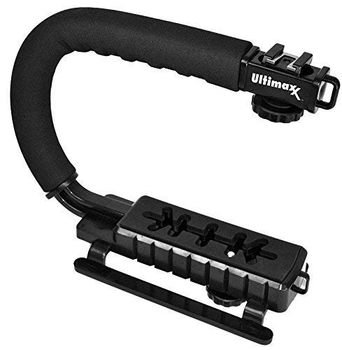 Ultimaxx Stabilizing Handheld Stabilizer Handle Grip with Accessory Mount for Camera, Camcorder, DSLR, DV Video; Particularly Canon, Nikon, Sony, Panasonic, Pentax, and Olympus Camcorders