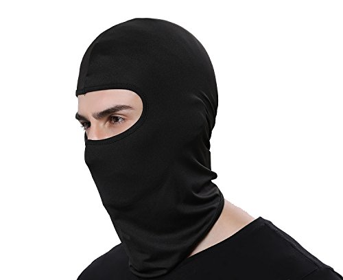 Women Men Thermal Swat Ski Winter Balaclava Hood Stopper Face Mask for Skullies Beanies Outdoor Sports Windproof Hat (Black)