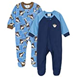 Gerber Baby Boys' 2-Pack Blanket Sleeper, Monkey Blue, 24 Months