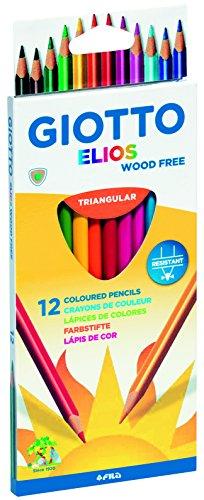 Lápices de Colores Libres De Madera Giotto Elios Triangular Estuche 12 Uds