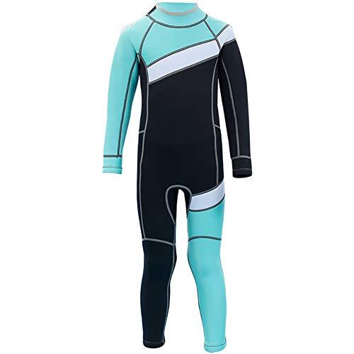 LYXCM Traje de neopreno para niños, traje de baño térmico de una pieza | Snorkeling Natación Buceo Espalda Cremallera Protección Solar Trajes de Buceo para Niños Pequeños, Medianos