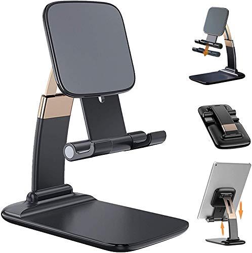 Verstellbare Handy Ständer,Ständer Tablet Halterung Halter Tablet Ständer Tisch Handy Halter kompatibel mit iPad Air 3, iPad Pro, Mini, MediaPad, Surface Pro 7, Galaxy Tab, iPhone 12 usw. bis 12 Zoll