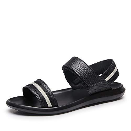 Leder Sandalen für männer peep Toe Instep weiche Flache Anti rutsch leichte Strandschuhe Schuhe Schuhe für den Sommer entspannen