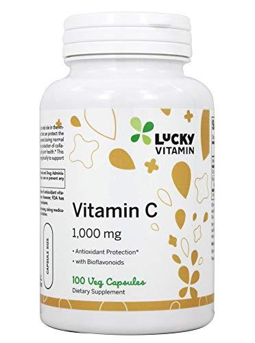 LuckyVitamin - Vitamina C antiossidante 1000 mg - 100 Capsule di Veg
