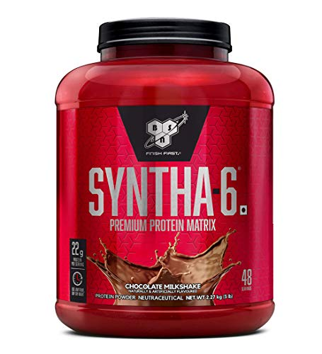 BSN Syntha 6 Protein Powder - 5 lbs, 2.27 kg (Chocolate Milkshake)