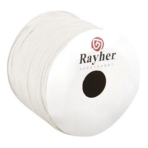 Rayher 5116002 Papierkordel mit Draht, 2 mm, Rolle 25 m, weiß