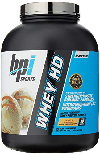 Bpi Sports Whey-HD Supplement, 4 lbs, Vanilla Caramel