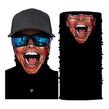 New Popular Motorcycle Biker Mask Face 3D Printing Festival Ghost Skull Halloween Face Masks Shield Ski Balaclava Headband Magic Scarf Neck Sport Headband for Men Women Girls Gifts  P Balaclavas
