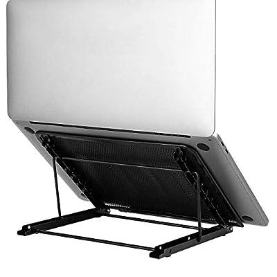 MDHAND Laptop Stand for Desk, Portable Laptop Riser, Multi-Angle Adjustable Laptop Holder Notebook Stand (Black)