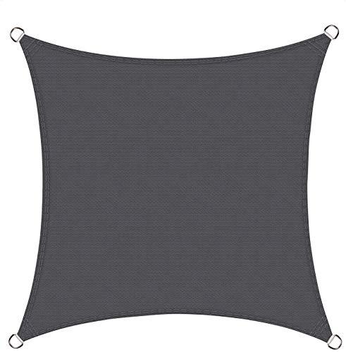 Cool Area Tenda A Vela Quadrata 4 X 4 Metri Protezione Raggi UV, Vela Ombreggiante Resistente E Traspirante Per Giardino Balcone Terrazza, Grafite