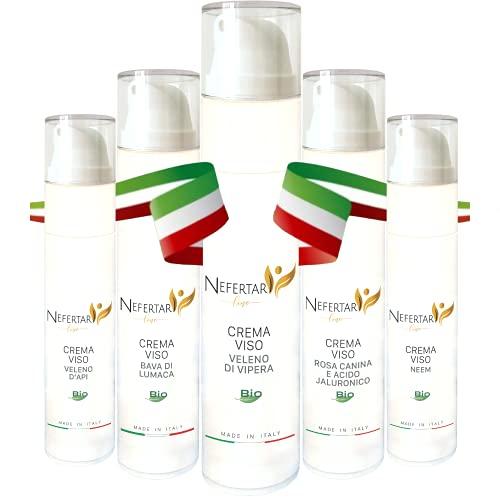 Crema Idratante Viso BIO al Veleno di Vipera con Aloe Vera - Effetto Lifting - Made in Italy, 50ml