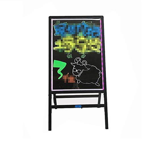 LED Message Schrijven Board Verlichte Erasable Neon Effect Restaurant Menu tekenen met 8 kleuren Markers (Color : Black, Size : 50x70cm)