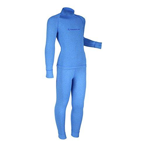 ROUGH RADICAL Kinder Funktionswäsche Set Shirt & Hose Thermowäsche (140/146, Blue blau)