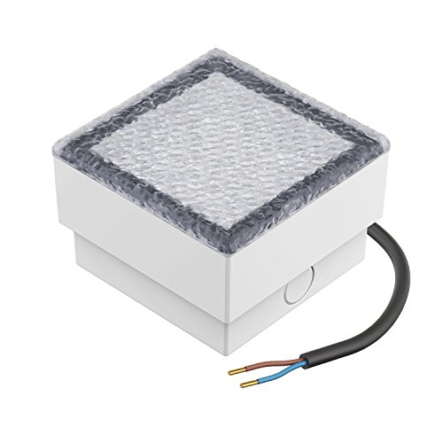 parlat LED Pflasterstein Bodenleuchte CUS 10x10cm 230V warm-weiß