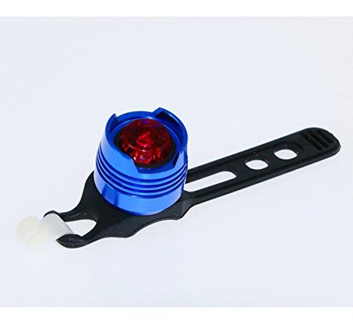 Cyrusher - Fanale posteriore impermeabile a LED per fanale posteriore, con regolazione costante, per casco e bicicletta, 1 pezzo, colore: Blu