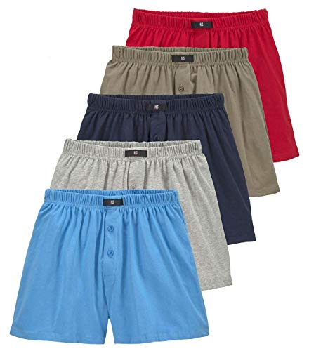 H.I.S weite Herren Boxershorts, Shorts, klassischer Schnitt, 5er Pack (9, Bunt_2)