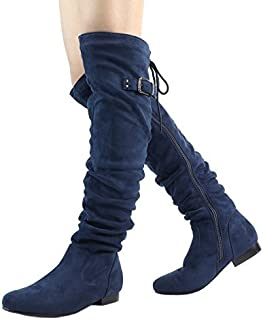 DREAM PAIRS Womens Fashion Casual Over The Knee Pull On Slouchy Boots