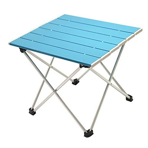 XMY Aluminium Folding Camping Tisch, bewegliche zusammenklappbare Leichtgewichtler Tisch Picknick, Camp, Strand, Angeln, Grill (biue)