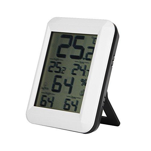 Thermo-Hygrometer, drahtloses LCD Digital Temperatur Luftfeuchtigkeit AMIR Indoor Outdoor Mini tragbares Thermometer, Fahrenheit Celsius Für Feuchtigkeitsmesser für Zuhause, Büro(Innenthermometer)