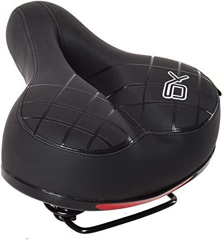 WYIILIN Cojín de asiento de bicicleta de montaña, diseño a prueba de golpes, trasero grande, ultra ancho, suave y flexible, una variedad de estilos a elegir